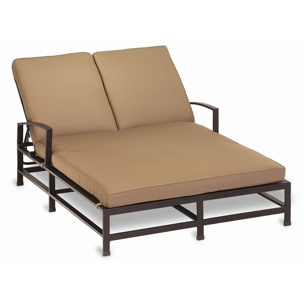 La Jolla Double Chaise Lounge with Cushion