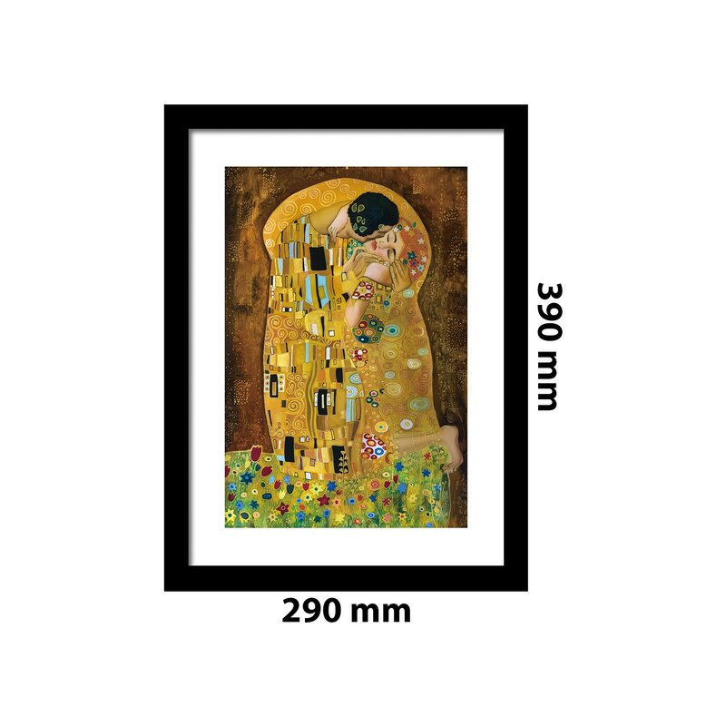 east urban home gerahmtes poster der kuss von gustav klimt. Black Bedroom Furniture Sets. Home Design Ideas