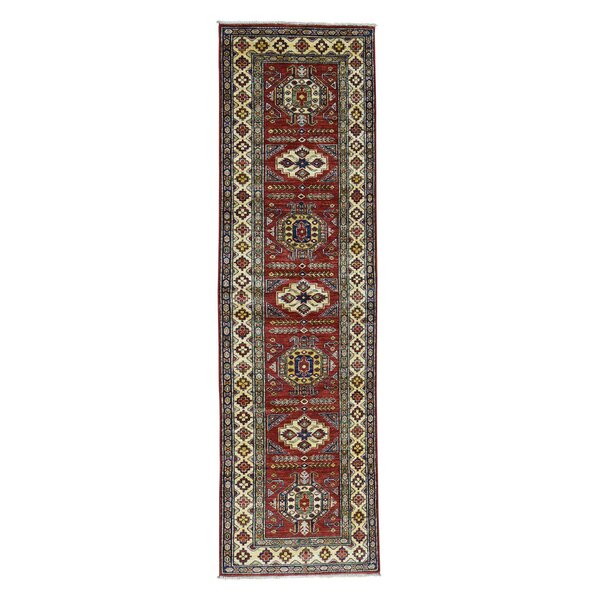 One-of-a-Kind Kazak Super Hand-Knotted Wool Red Area Rug by Canora Grey