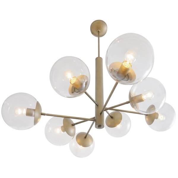 Cissell Mid Century 8-Light Chandelier by Corrigan