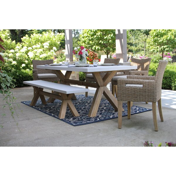 Bayswater 6 Piece Dining Set with Cushions by Rosecliff Heights