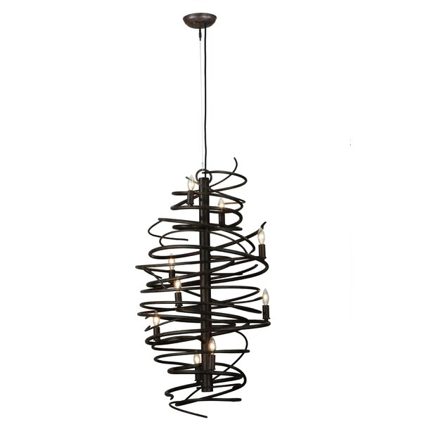 Welling 9 - Light Candle Style Geometric Chandelier By 17 Stories