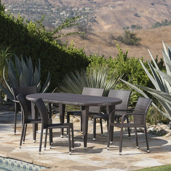 Soderlund Outdoor 7 Piece Dining Set by Corrigan Studio