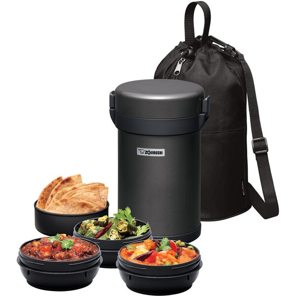 Vacuum Insulated Tiffin Box 4 Container Food Storage Set by Zojirushi