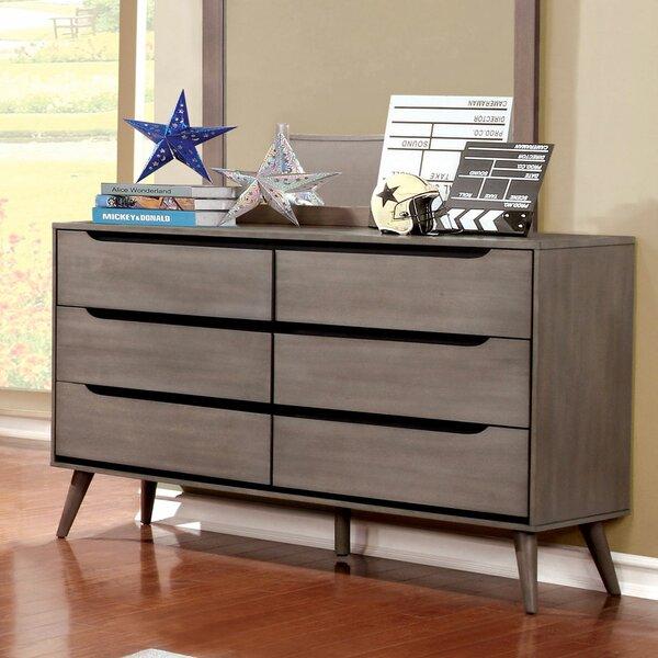Eisen 6 Drawer Double Dresser by Mercury Row