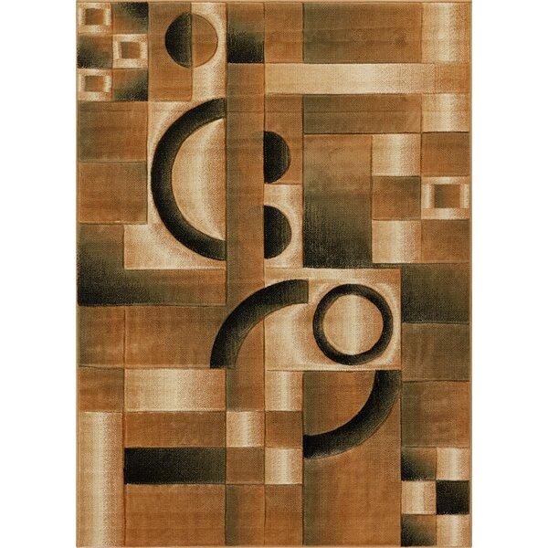 Atherton Geometric Brown Area Rug by Winston Porter