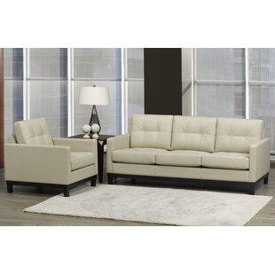 Merrick Road 2 Piece Leather Living Room Set by Latitude Run®