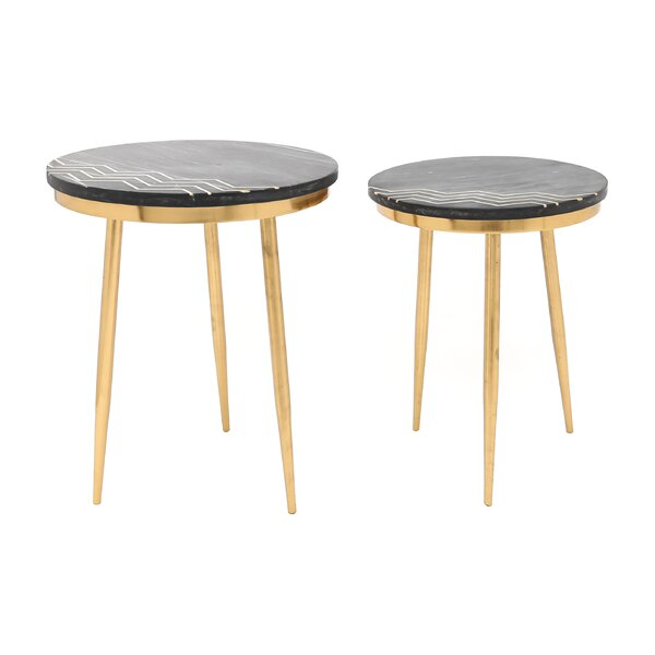 Sinatra 2 Piece End Table Set by Mercer41 Mercer41