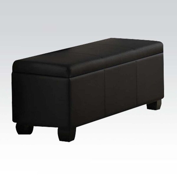 Hovig Faux Leather Flip Top Storage Bench by Red Barrel Studio