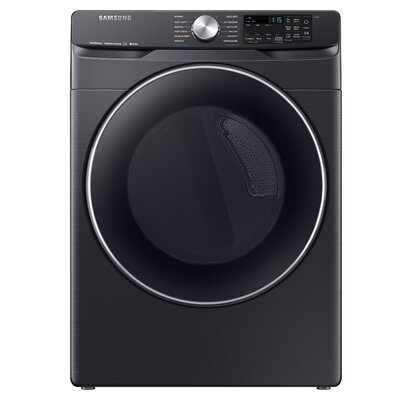 7.5 cu. ft. Smart Electric Dryer with Steam Dry Technology Samsung Color: Black Stainless Steel