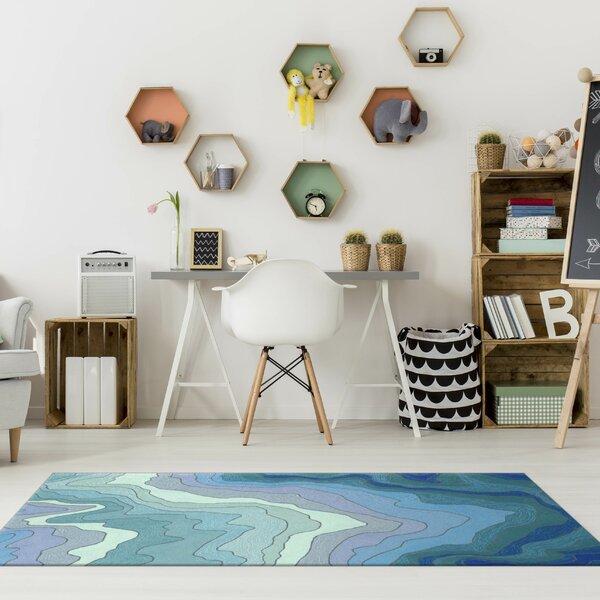 Vandenbosch Hand-Tufted Blue Indoor/Outdoor Area Rug by Wrought Studio
