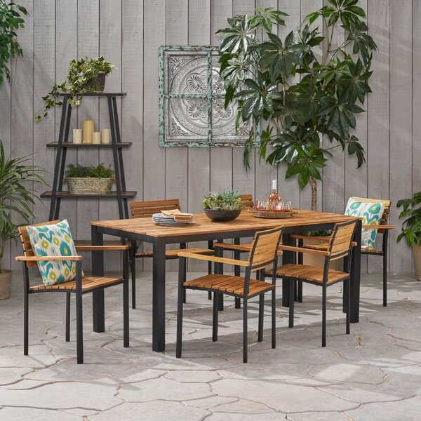 Dycus Outdoor 7 Piece Dining Set by Millwood Pines