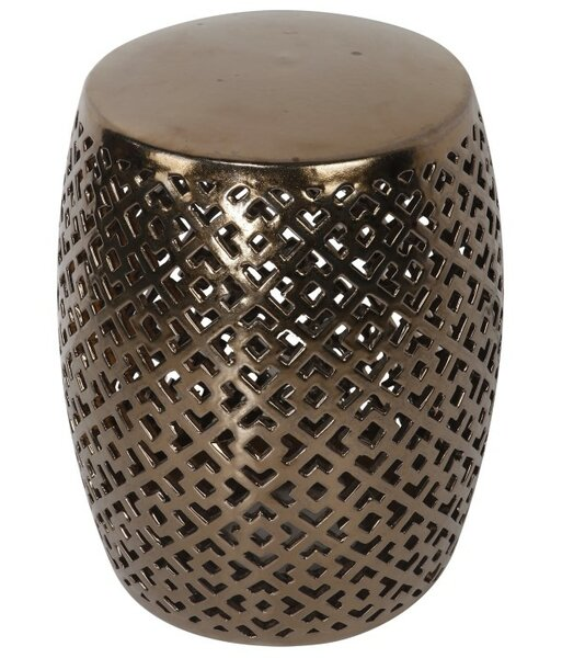 Square Pattern Garden Stool by ABC Home Collection