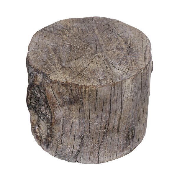 Meier Cement Round Tree Stump Accent Stool by Union Rustic