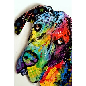 Tilted Dane Graphic Art on Wrapped Canvas by East Urban Home