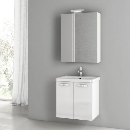 City Play 24 Wall-Mounted Single Bathroom Vanity Set by ACF Bathroom VanitiesCity Play 24 Wall-Mounted Single Bathroom Vanity Set by ACF Bathroom Vanities