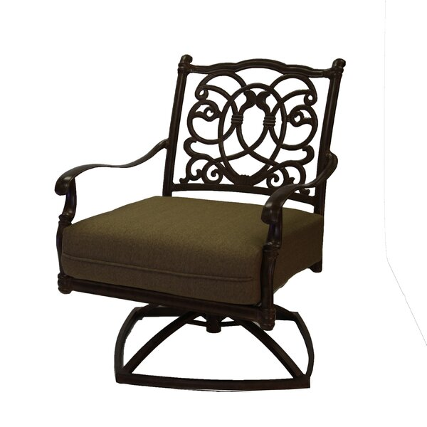 Battista Swivel Chair with Cushions by Fleur De Lis Living