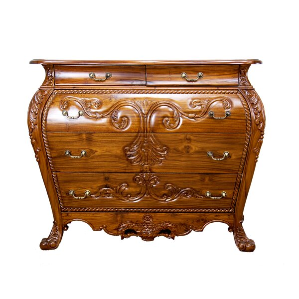 Dutch Style Bombay 5 Drawer Accent Chest by The Silver Teak