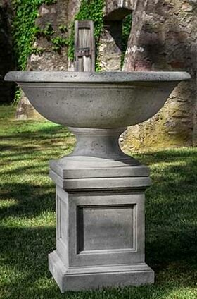 Pedestal Cast Stone Plant Stand by Campania International