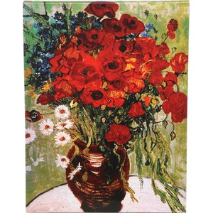 'Daisies & Poppies' by Vincent van Gogh Painting Print on Wrapped Canvas by Trademark Fine Art