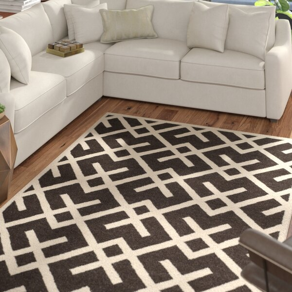 Cassiopeia Handmade Wool Brown/Ivory Area Rug by Mercury Row