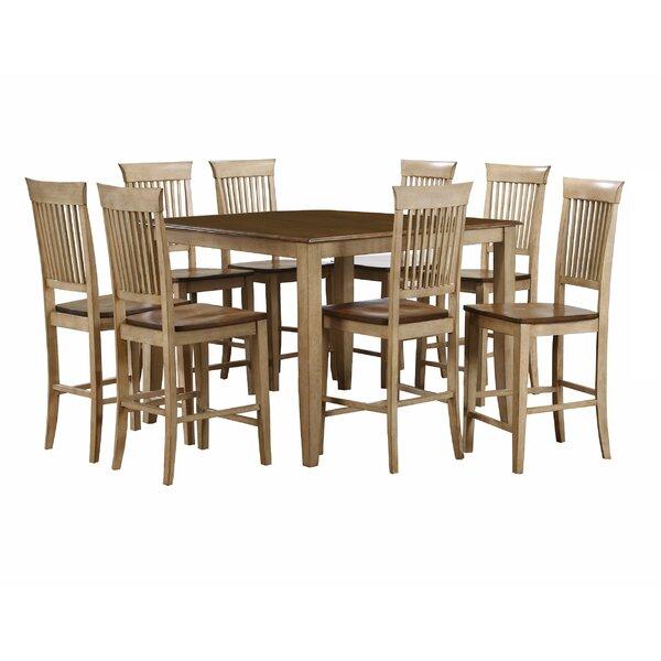 Huerfano Valley 9 Piece Adjustable Pub Table Set by Loon Peak