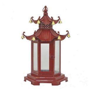 Best Price Pagoda Metal Lantern By World Menagerie