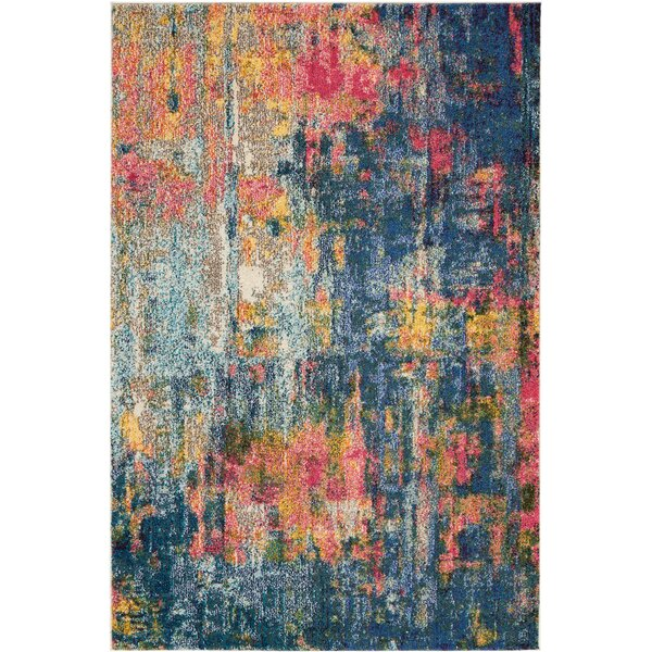 Velva Blue/Yellow Area Rug by Ivy Bronx