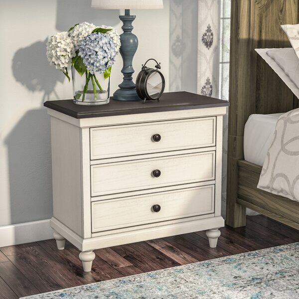 Ornithogale 3 Drawer Nightstand by Lark Manor