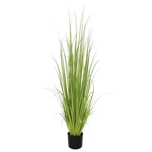 Faux Onion Grass in Round Pot by BIDKhome
