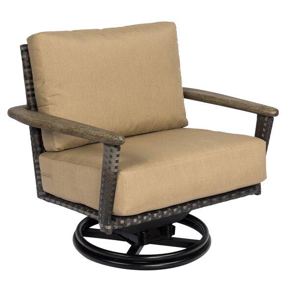 Draper Swivel Rocking Chair with Cushions by Woodard