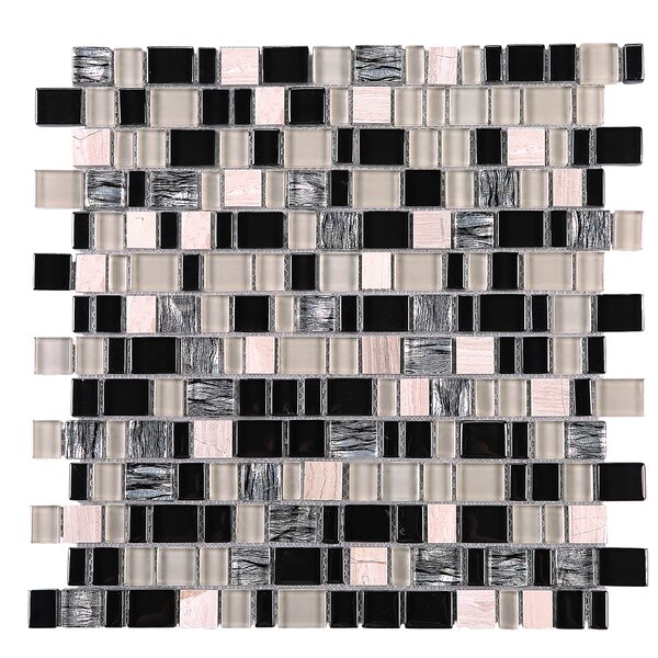 Cubemax Random Sized Mixed Material Tile in Black/Beige by Multile