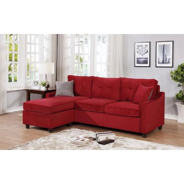Mandica Reversible Sectional With Ottoman By Latitude Run