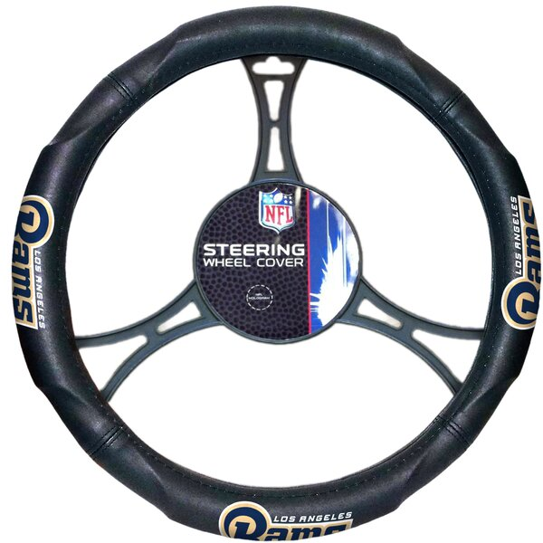 NFL Rams Car Steering Wheel Cover by Northwest Co.