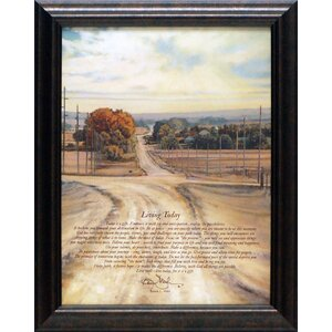 Living Today by Bonnie Mohr Framed Graphic Art by Artistic Reflections