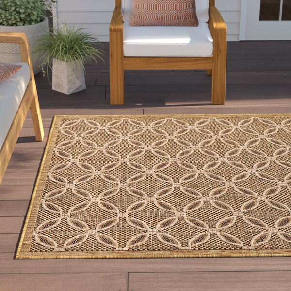 Dominick Light Brown Indoor/Outdoor Area Rug By Sol 72 Outdoor