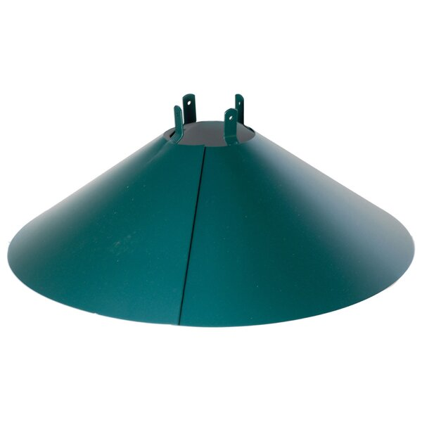 Wrap Around Steel Squirrel Baffle in Green by Audubon