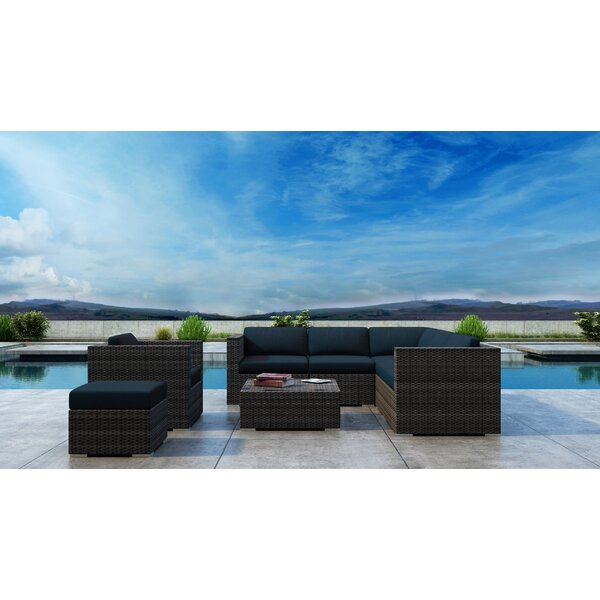 Gilleland 8 Piece Sectional Setting Group with Sunbrella Cushion by Orren Ellis
