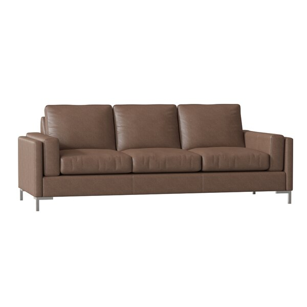 Lage Leather Sofa By Wrought Studio