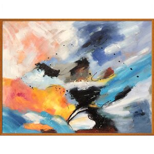 Abstract by Pol Ledent Framed Hand Painted Oil on Canvas by Tori Home