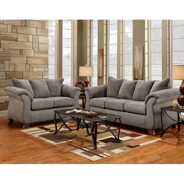 Hively 2 Piece Living Room Set (Set of 2) by Charlton Home