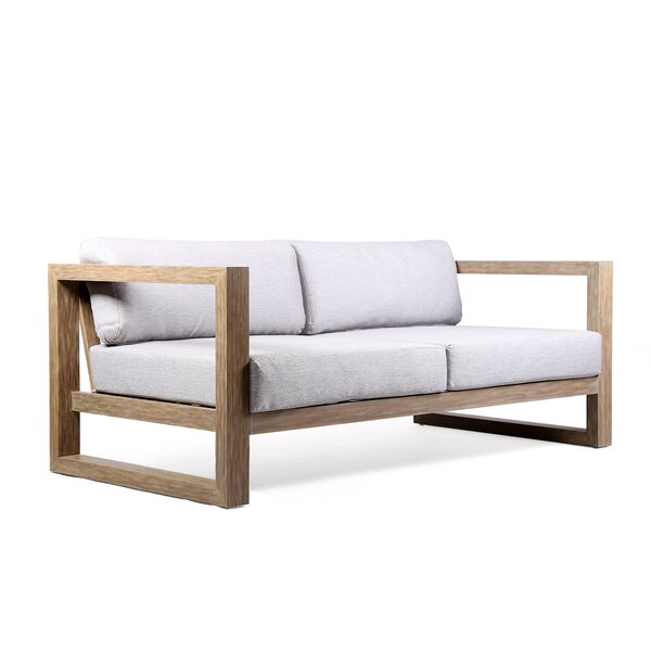 Demi Patio Sofa with Cushions by Rosecliff Heights