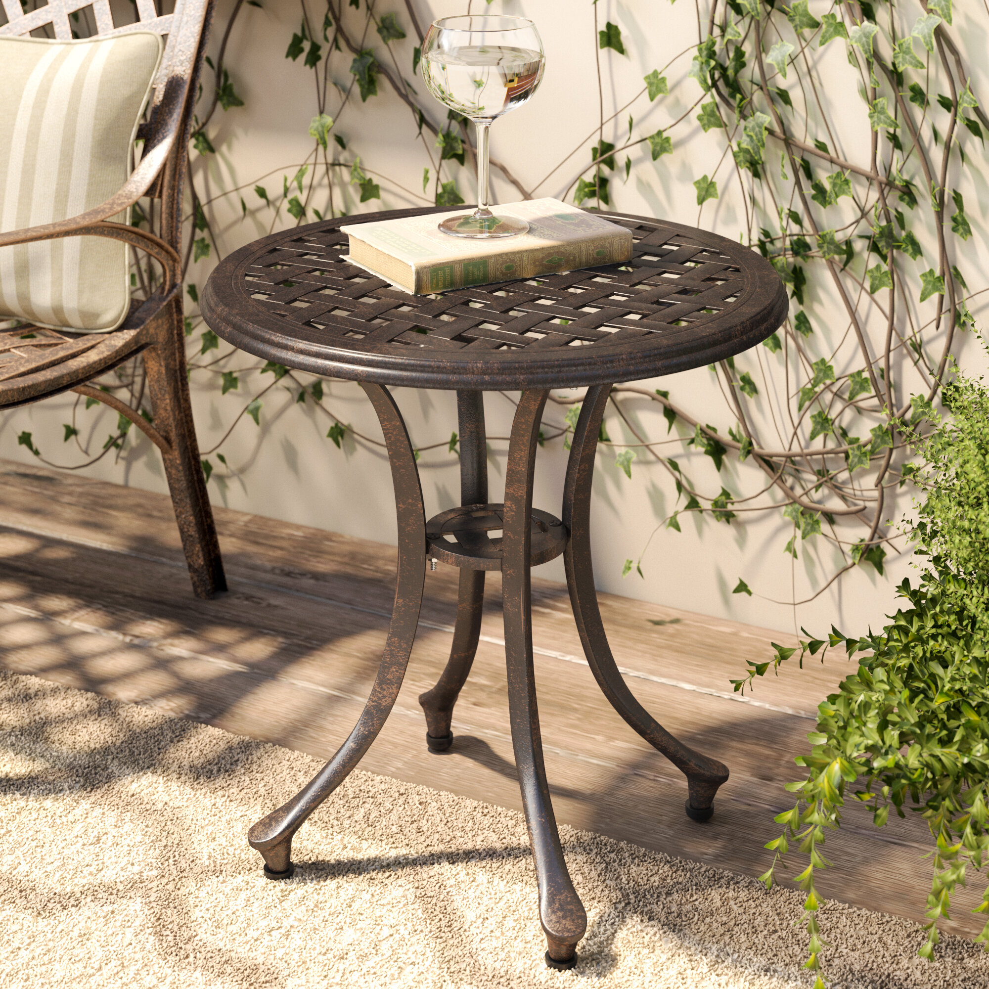 hk round design side living table metal product woo