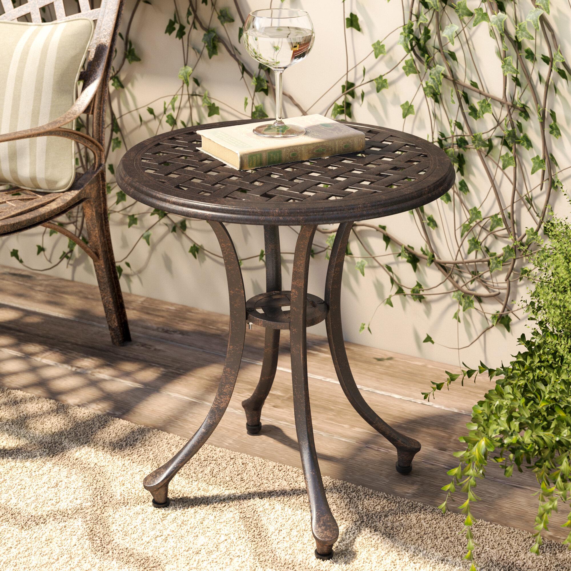 coffee side copper metal aspect lamp black end porto round table itm