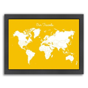 Our Travels Framed Graphic Art in Mustard by East Urban Home