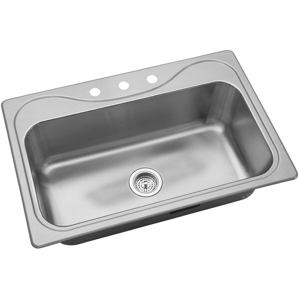 Southhaven 33 L x 22 W Single Bowl Kitchen Sink by Kohler