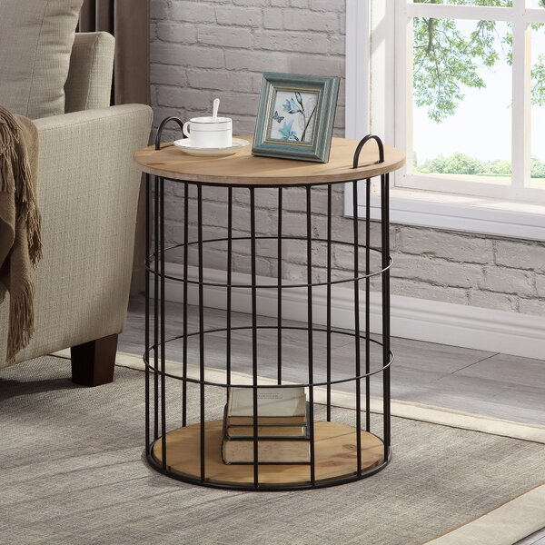 Nix Basket End Table by Williston Forge