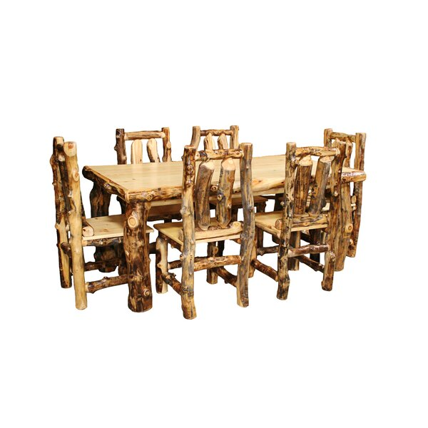 Amias Solid Wood Dining Table by Millwood Pines Millwood Pines