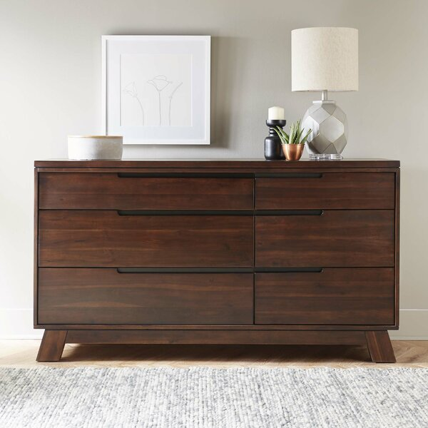 Damiani 6 Drawer Double Dresser by Brayden Studio