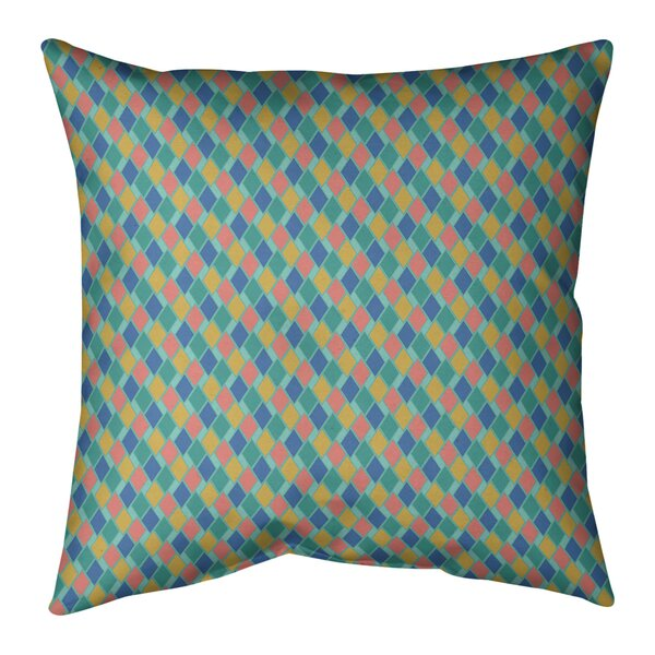 Avicia Retro Diamonds Indoor/Outdoor Throw Pillow